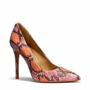 COACH two tonne python heels